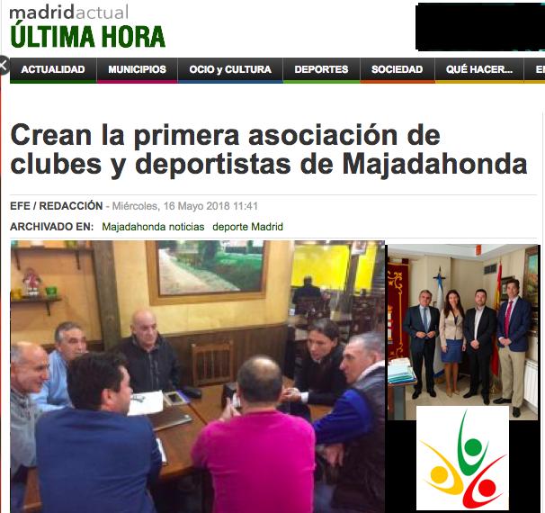 Madrid Actual: crean  primera Asociación de Clubes y Deportistas de Majadahonda (ACDM)