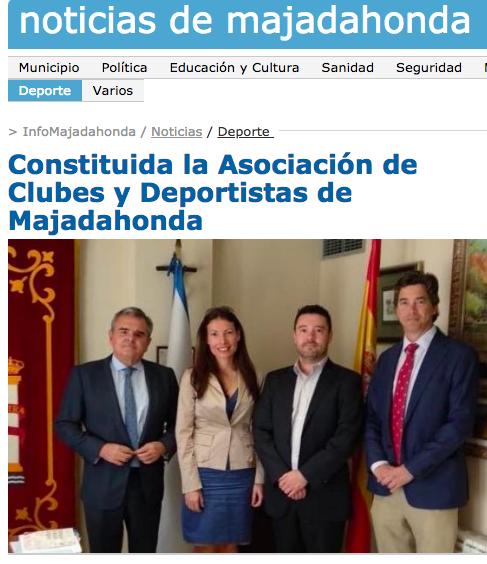 MAJADAHONDA CIUDAD AUMENTADA: Se compone la Asociación de Clubes y Deportistas de Majadahonda